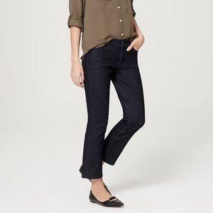 LOFT modern crop dark wash jeans 10